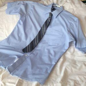 Men's short sleeve dress shirt 👔 w/tie